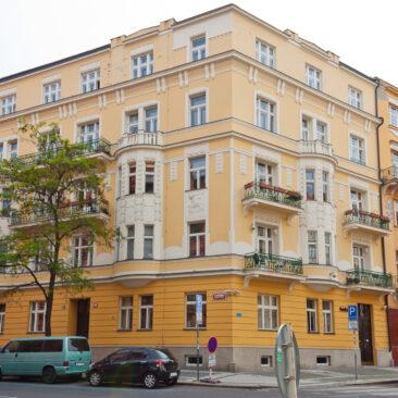 Rekonstrukce fasády Slavíkova 23, Praha 3