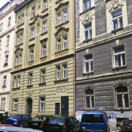 Rekonstrukce fasády Orelská 7, Praha 10